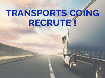 Transports Coing recrute 5 conducteurs